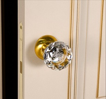 Krystal Premium (A6020) CL / SG transparentní matné zlatem talisman